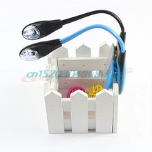 Mini Booklight Flexible Clip-on Bright LED Travel Book Reading Lamp White Light #H028#