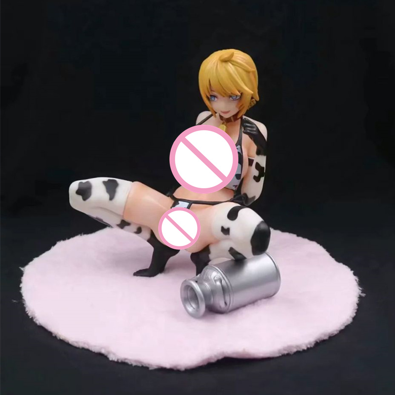 Anime Q-six 721 <font><b>Cow</b></font> Woman Life <font><b>Sexy</b></font> Girl PVC Action Figure Collectible Model doll toy 15cm image