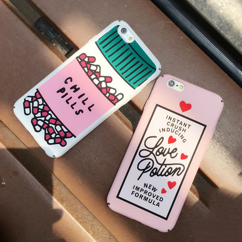 Chill Pills Print Dull Polish Hard PC Mobile Phone Back Cover For iPhone 6 6S Plus Full Coverage Phone Cases Protector YC1891