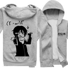 Anime noragami yato Cosplay chaqueta con capucha invierno espesar la capa  en el envío libre( b175f9f1befe