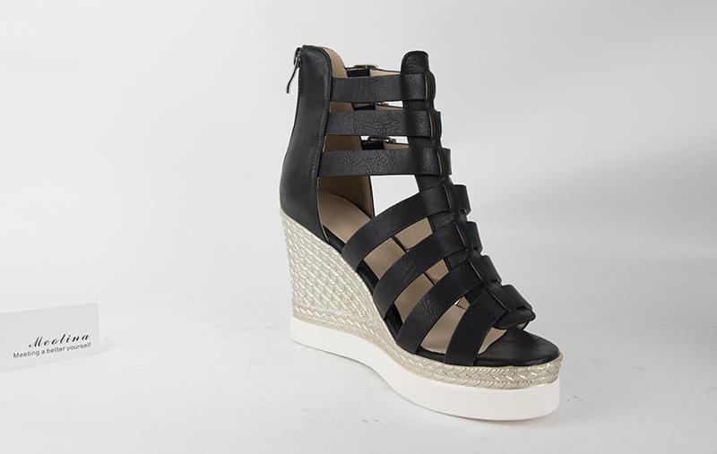 Gladiator Shoes, Women's Platform Wedges, High Heel Sandals, Rome Ladies Wedge Heels 16