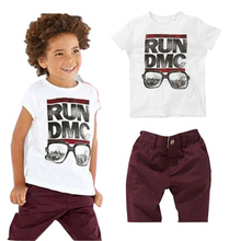 Boys Clothing Children Sets New Free Shipping Summer Casual Boy T-Shirt + Shorts For 2 To 6 Years Old Kids Suits  2~6 T