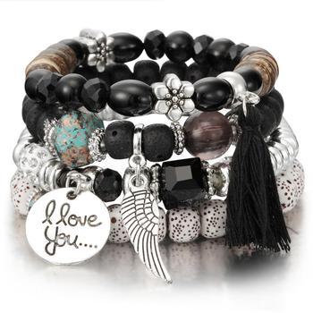 Women's Boho Style Stone Charm Bracelet Bracelets Jewelry New Arrivals Women Jewelry Metal Color: SL1032