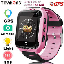 Tinymons Q529 GPS Smart Watch With Camera Flashlight Baby Watch SOS Call Location Device Tracker for Kid Safe PK Q100 Q90 Q50(China)