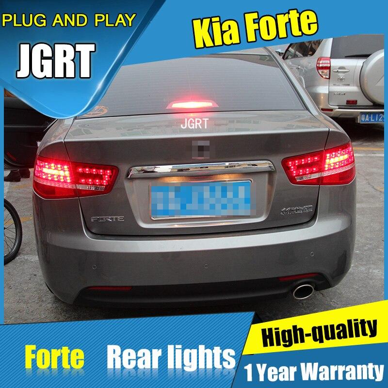 Автомобиль стайлинг 4 шт. для Kia-Форте задние фонари 2013-2015 Форте LED задний фонарь+сигнала поворота+тормоза+задние светодиодные