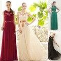 2016 Verano Diosa Mujeres Playa Bohemia Maxi Vestidos Largos Elegante Plisada Gasa Maxi Vestidos Más El Tamaño Verde/Beige/negro