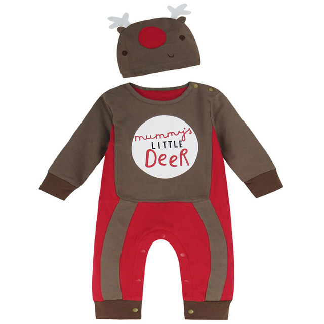 dc6fdf3b1c66 Baby Boy Christmas Costume Romper Deer Long Sleeve Jumpsuit Outfit Xmas  Playsuit For Christmas Boy New