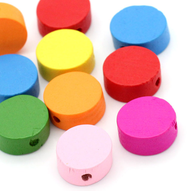 DoreenBeads Hot Sale DIY Metarial Wood Spacer Beads Round Mixed At Random About
