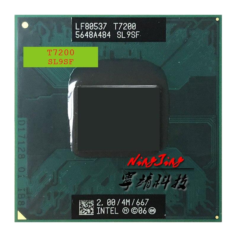 Процессор Intel Core 2 Duo T7200 SL9SF 2,0 ГГц двухъядерный двухпоточный ЦПУ 4 Мб 34 Вт Разъем M / mPGA478MT