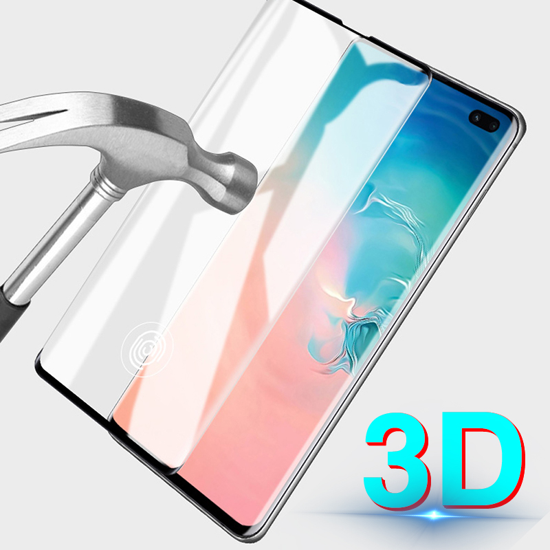 Original 3D Protective Glass For <font><b>Samsung</b></font> Galaxy S10e Case Cover Tempered Glass For <font><b>Samsung</b></font> S10 Plus S9 Plus fingerprint S10 Fi image