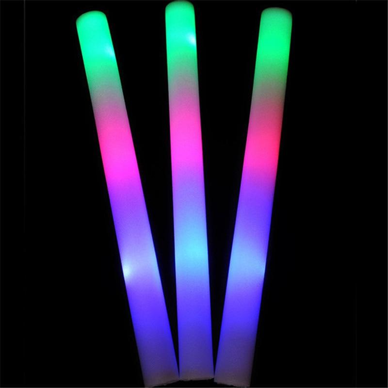 Us 9 61 26 Off Colorful Sponge Glow Sticks Rally Rave Cheering Tube Glow Baton Wands Flashing Sponge Diy Wedding Decoration Multi Package In Glow