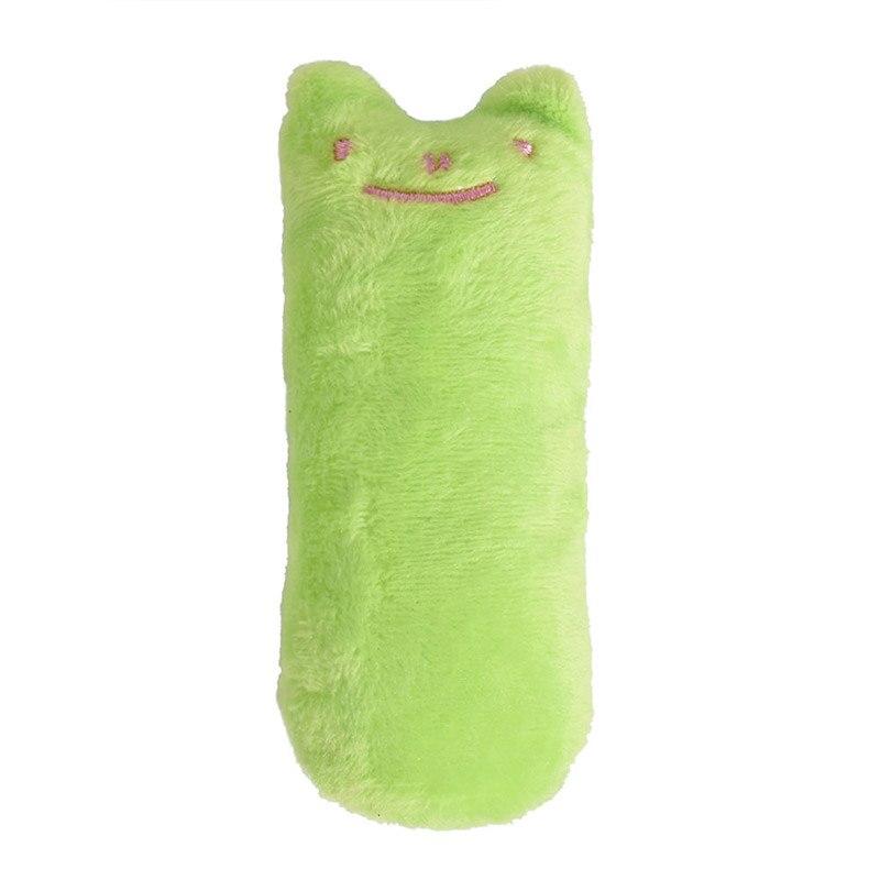 Модные мини-игрушки для шлифовки зубов, кошачья мята, забавный интерактивный плюшевый Кот, игрушка для питомца, котенок, жевательные вокальные когти, Когти для кошек - Цвет: Light Green