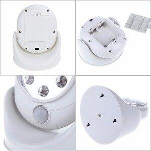 Image 3 - 6V 7 led akülü hareket aktif sensörlü ışık lambası 360 derece rotasyon duvar lambaları beyaz sundurma işıkları kapalı dış aydınlatma
