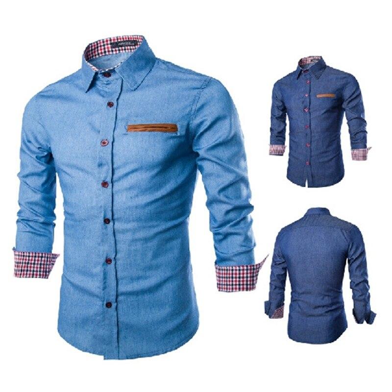 2017 new men shirts business long sleeve turn down collar long sleeve shirt mens dress male
