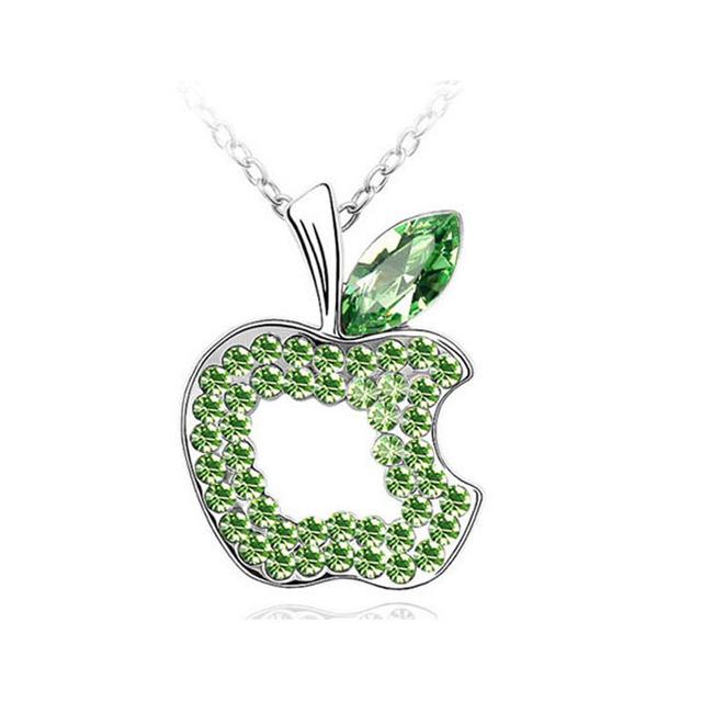 Austrian Crystal Apple Fruit Pendant