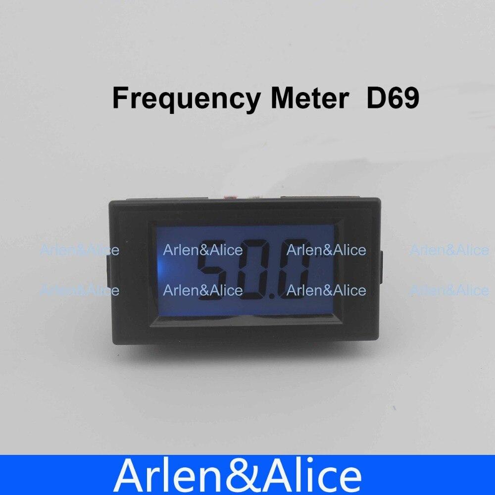 10-199.9Hz Bleu LCD Fréquence Numérique Panel Meter Gauge Cymometer Instruments Électriques 80-300 V, 150 V-500 V