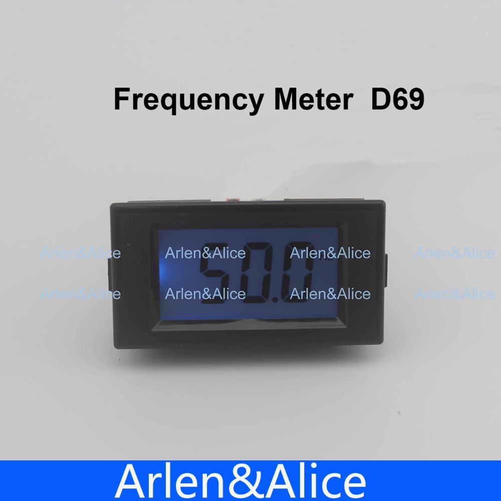 10-199.9Hz Blue LCD Digital Frequency Panel Meter Gauge Cymometer Electrical Instruments 80-300V, 150V-500V