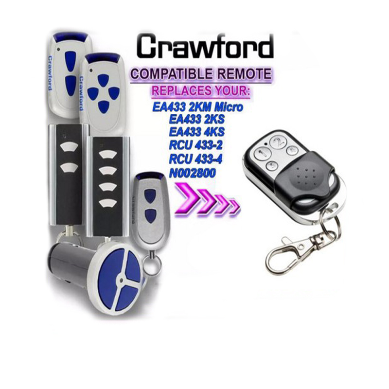 For Crawford EA433 2KM MICRO,EA433 2KS RCU433 Compatible Remote Control Replacement Free Shipping