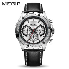 MEGIR Chronograph Sport Watch Men Relogio Masculino Top Brand Luxury Army Military Watches Clock Men Creative Quartz Wrist Watch top brand megir chronograph sport watch men luxury relogio masculino silicone quartz army military wrist watch gold clock men
