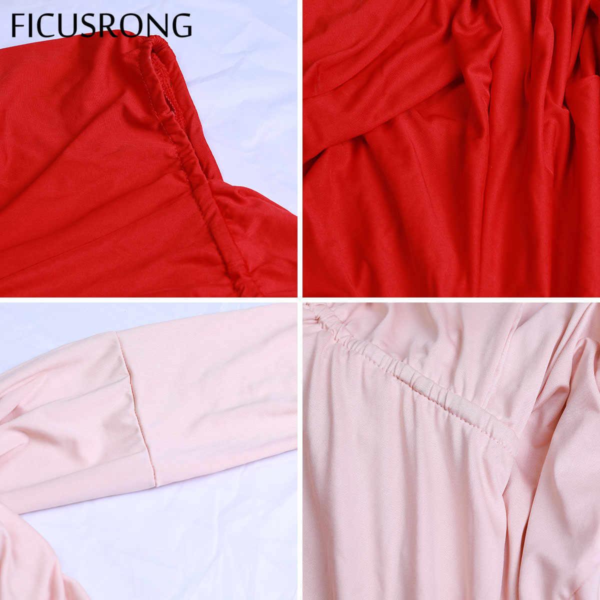 Сексуальное длинное платье подружки невесты, вечернее, многослойное, с обёртыванием, бесконечное, длинное, красное, с вырезами, вечерние, Бандажное, Vestidos FICUSRONG