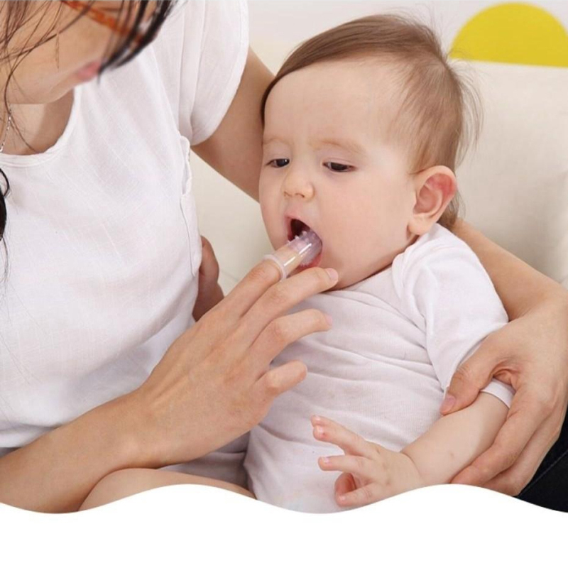 Bebê dedo escova de dentes silicone crianças dentes limpar macio silicone infantil escova de limpeza de borracha escova de bebê + caixa