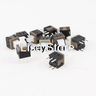 Locking White Button 6 Pins Tact Switch for Electric Torch Flashlight
