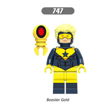 Single Sale Super Heroes Star Wars 747 Booster Gold Mini Building Blocks Figure Bricks Toys kids gifts Compatible Legoed Ninjaed(China)