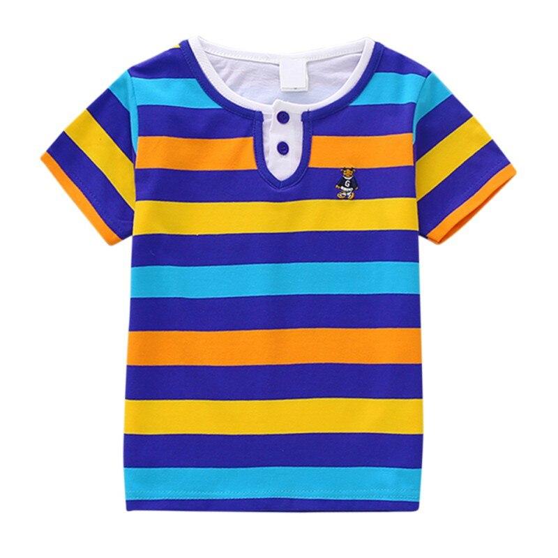 Children T-Shirt Clothing Tops Short-Sleeve Girl Striped Boys Summer Casual for Tee Kids