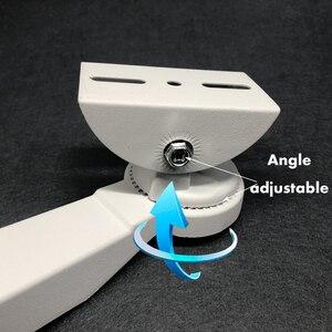 Image 5 - Cctv Beugel Camera Cilindrische Pole Hoepel Beugel Haakse Buitenste Muur Hoek Beugel Montage Ondersteuning Stands Houder Aluminium