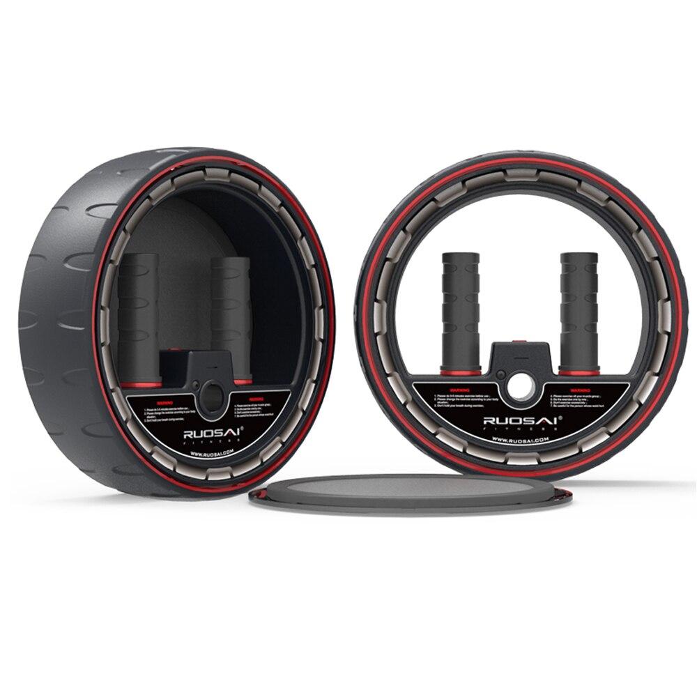 Rodillo de ruedas para abdominales con contador electrónico, rueda de entrenamiento central, equipo de ejercicio Abdominal, Pefect para hombre y mujer
