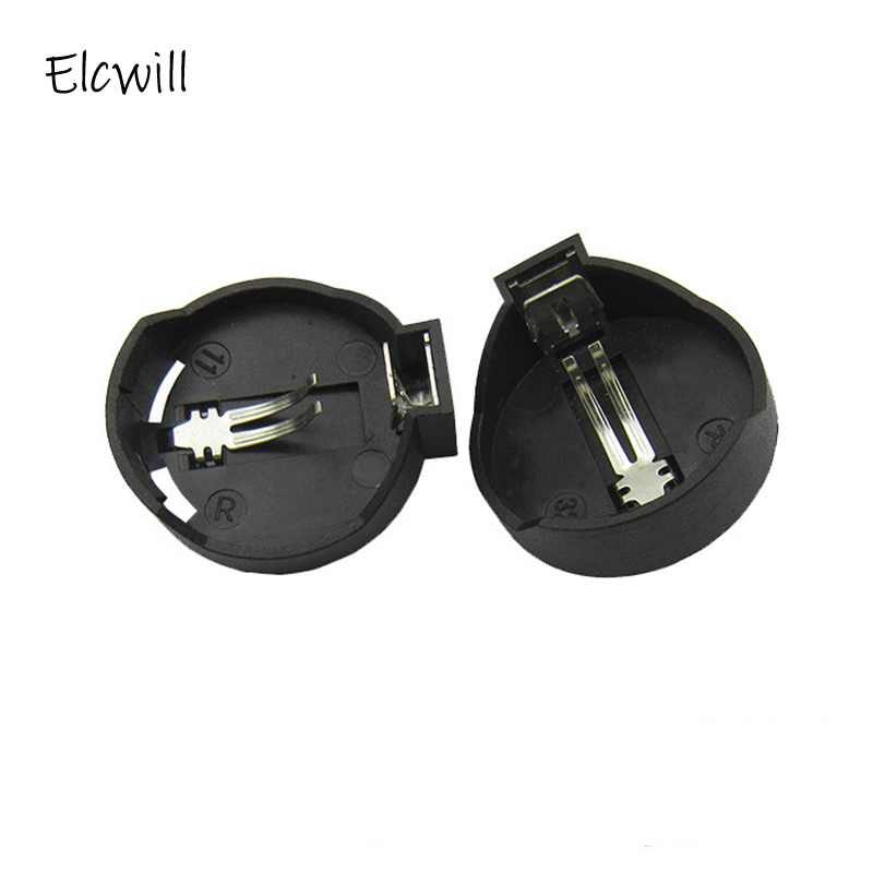 1/5/10Pcs 3V CR2025 CR2032 Holder Case Button Coin Cell Battery Socket Black