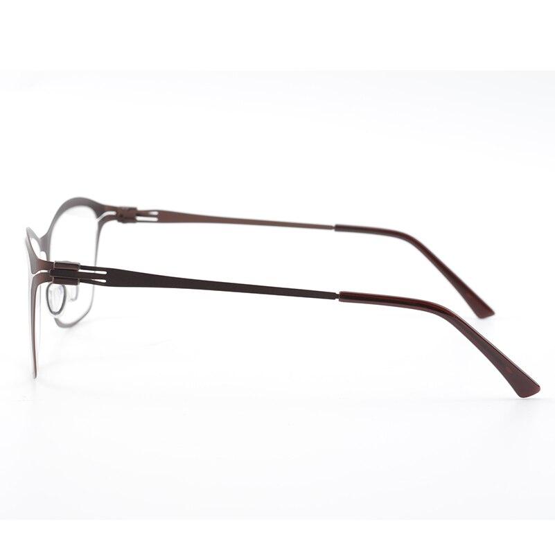 Braun Metall Optische Gläser Rahmen Herren Klare Linse Gläser ...