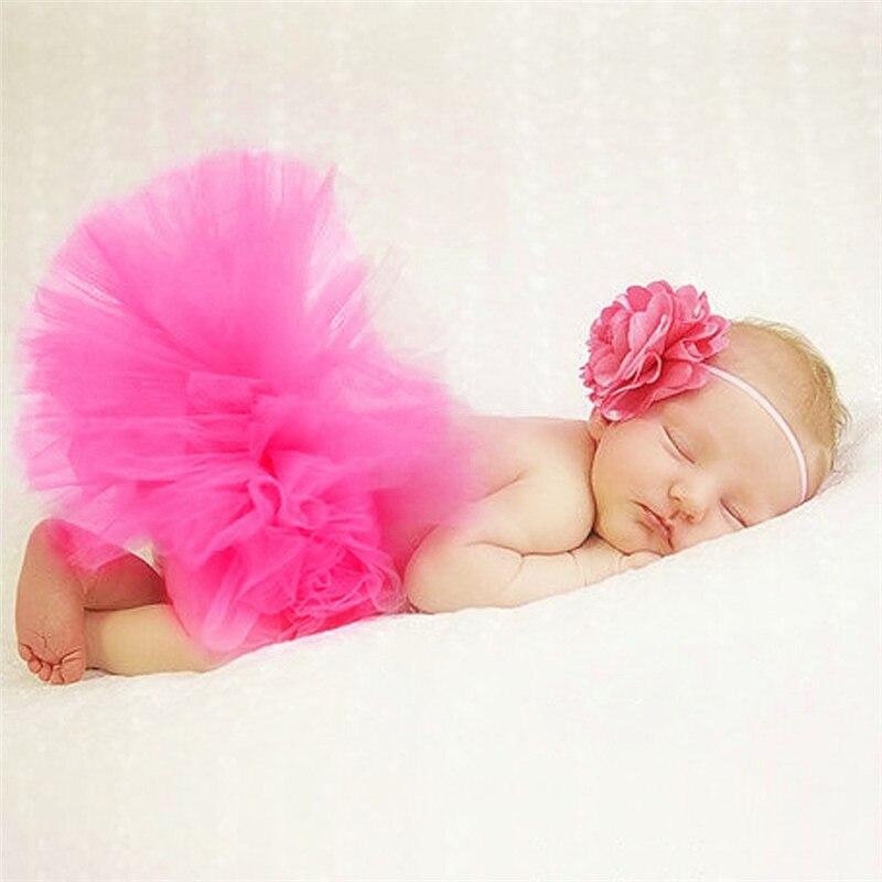 Newborn-Baby-Props-Tutu-Skirt-Handmade-Crochet-Flower-Cap-Headband-and-Tutu-Skirts-Baby-Photo-Props-Fotografia-1