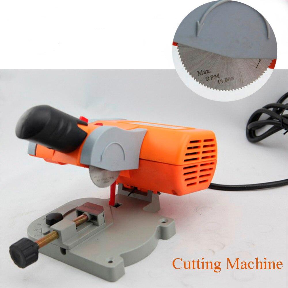 220 V Table Machine de découpe banc Mini coupe 0-45 scie à onglet lame en acier 3/8