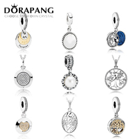 DORAPANG 925 Sterling Silver Family Tree Crystal Pendant Pearl Charms Beads Collocation Bracelet DIY Bracelet Wholesale