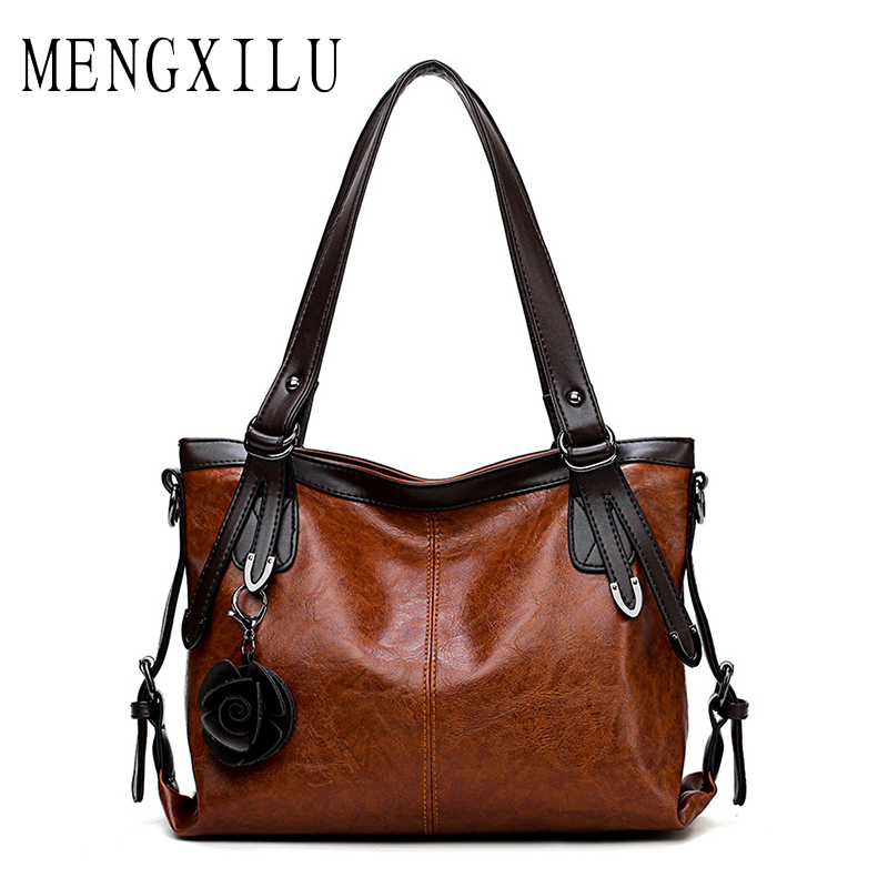 8ad34726e197 MENGXILU Flower Women Bag Ladies Shoulder Bags Female Causal Tote Bags  Handbags Women Famous Brand Designer