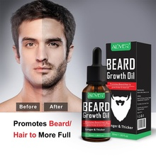 ALIVER Natural Beard Growth Oil Essential Fuller Thicker Beard Organic Mustache Softener Beard Care