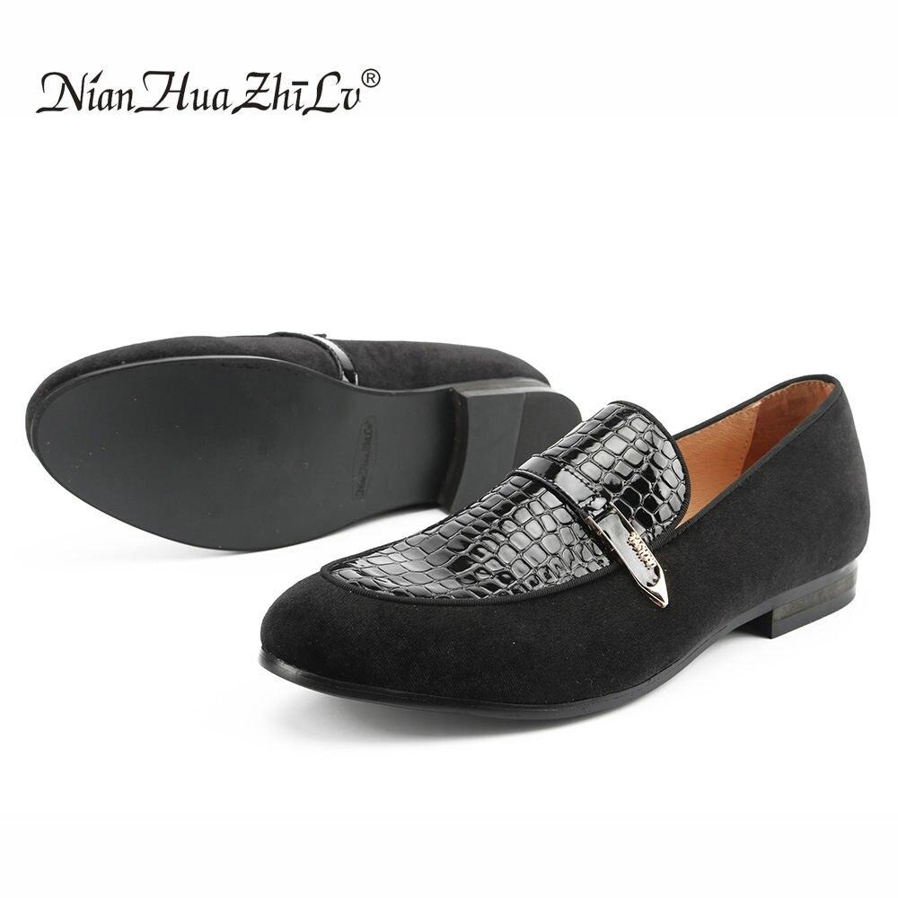 Ayakk.'ten Erkek Rahat Ayakkabılar'de NIAN HUA ZHI LV marka erkekler kadife loafer'lar ve kabartmalı deri ayakkabı rahat iş erkekler rahat ayakkabılar erkek daireler'da  Grup 1