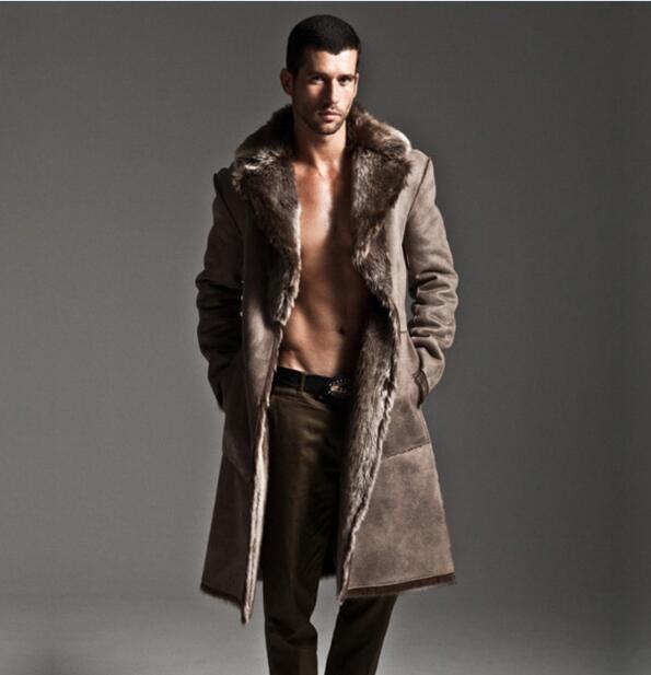 5ffebdfdb3cb Winter mink fur coat men thickening faux fur leather overcoat high quality fashion  man trench leather jacket man windbreaker 5XL