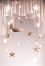 Laeacco Moons Stars Glitters Baby Light Bokeh Newborn Photography Backgrounds Customized Photographic Backdrops For Photo Studio стоимость
