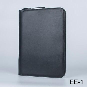 1 PC Czarny Pióro Wieczne Kolor PU Skóra Storage Case Uchwyt do 48 Długopisy
