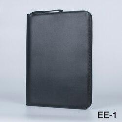 1 unid Ud. negro pluma estilográfica Color PU caja de almacenamiento de cuero para 48 bolígrafos