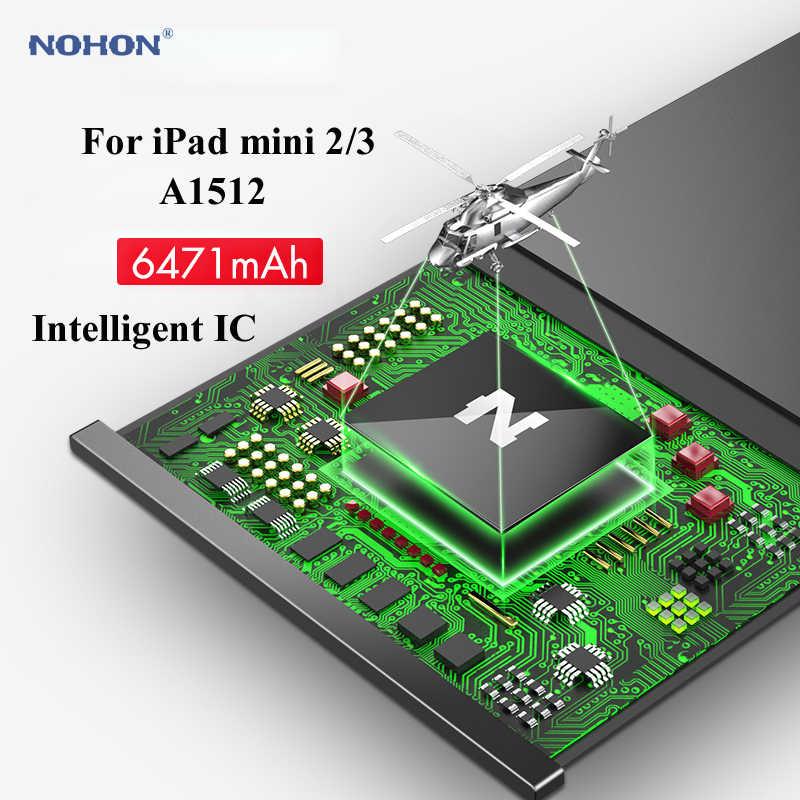 Nohon Pin Cho iPad Mini 2 3 A1512 mini2 mini3 6200-6471 mAh A1489 A1490 A1491 A1599 Bateria Cho apple iPad Mini 2 3 Pin