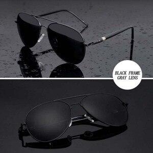Image 2 - Mens Sunglasses Brand Designer Pilot Polarized Male Sun Glasses Eyeglasses gafas oculos de sol masculino For Man Driver Glasses