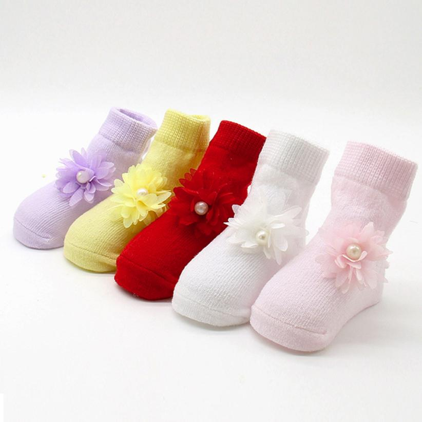1 Pair Lovely Cartoon Baby Kids Unisex Comfortable  Floral Cute Cotton Sock Slippers Warm Ankle Toddler Animal Infant Soft Socks