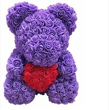 Valentines Romantic Gift Box PE Rose Bear Artificial Decorations Cute Cartoon Girlfriend Kid 40CM Party Decoration