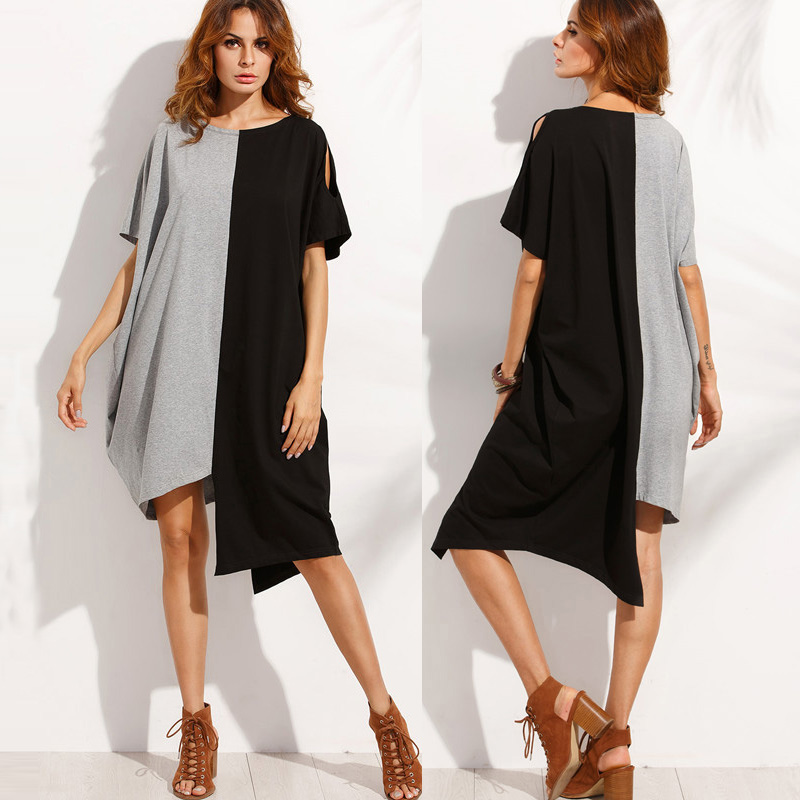 10fd6f2f14f25 US $16.91 |2018 Summer Women Dress Plus Size Casual Blouse Shirt Dress 5XL  Short Beach Shift Dresses Loose Short Sleeve Party Vestidos -in Dresses ...