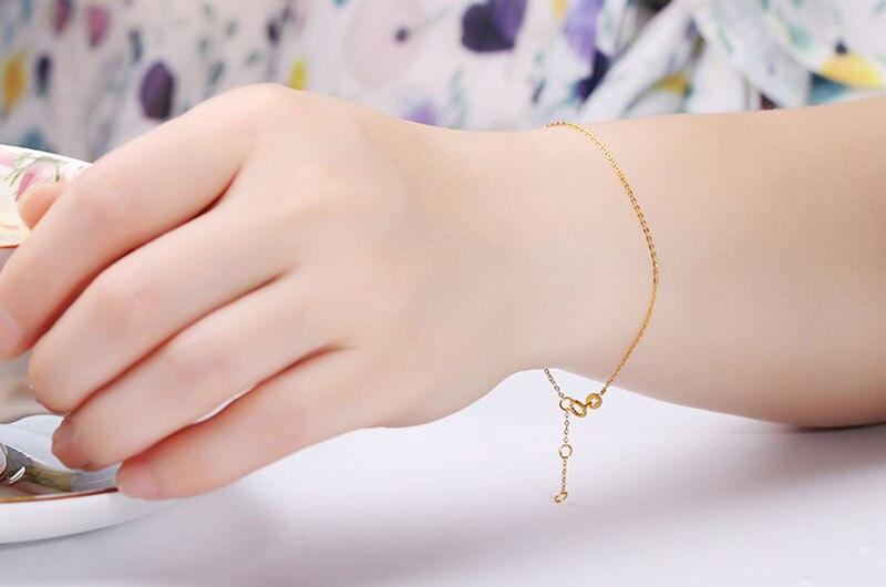 18k Au750 gold chain bracelet (13)