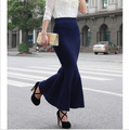 Winter spring elegant ankle knitted women's long fish tail skirts Mermaid trumpet long skirt S-XXL for OL lady all-mtach SMSK001