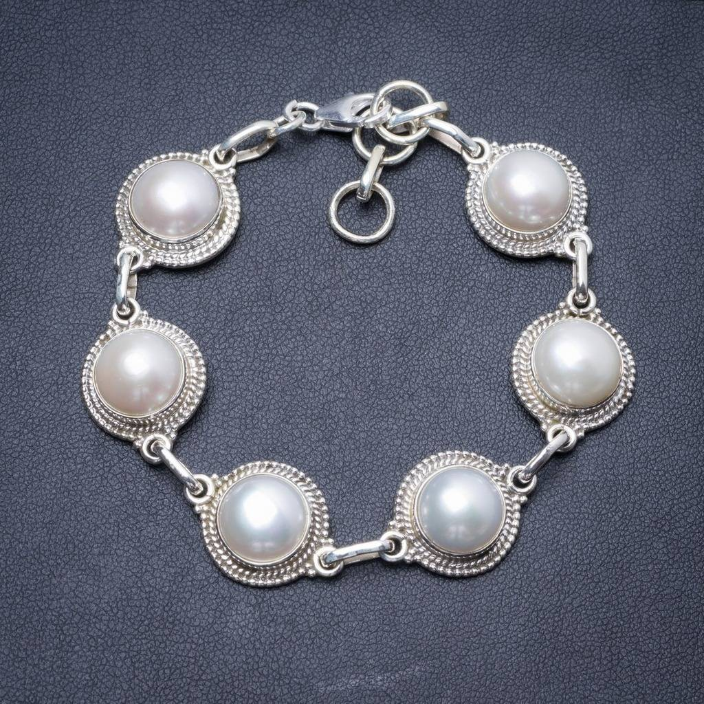 Natural River Pearl Handmade Unique 925 Sterling Silver Bracelet 7 1/4-8 1/4 Y2863 соус паста pearl river bridge hoisin sauce хойсин 260 мл